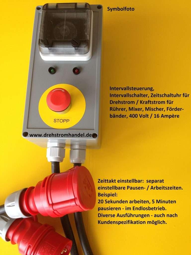 Intervallsteuerung, Intervallschalter Drehstrom 400 Volt