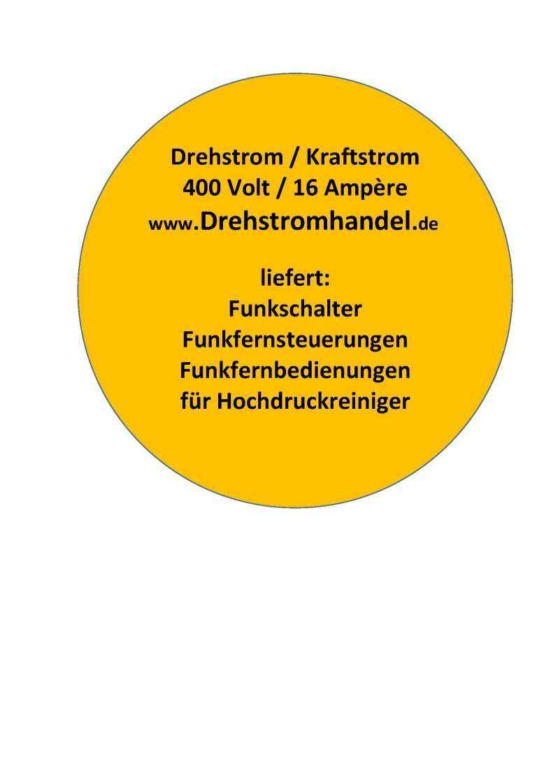 Drehstrom Funkfernsteuerung, Funkfernbedienung, Funkfernsteuerungssysmtem, Funkschalter - Drehstrom 400 Volt / 16 Ampère
